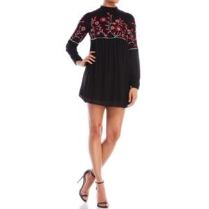 NWT Parker Sadie Black Embroidered Dress
